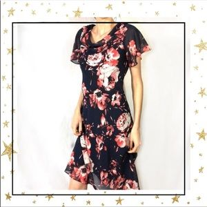 Dress Barn Floral short sleeve dress (ac4)